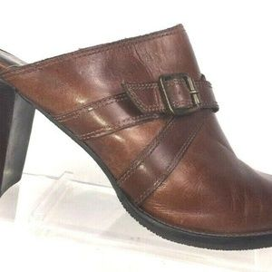 Bass Women's Clogs Kristen Leather Mules Size 10 M